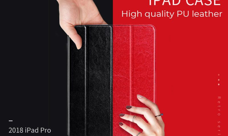 hoco ipad pro 12.9 11 inch retro leather case banner en