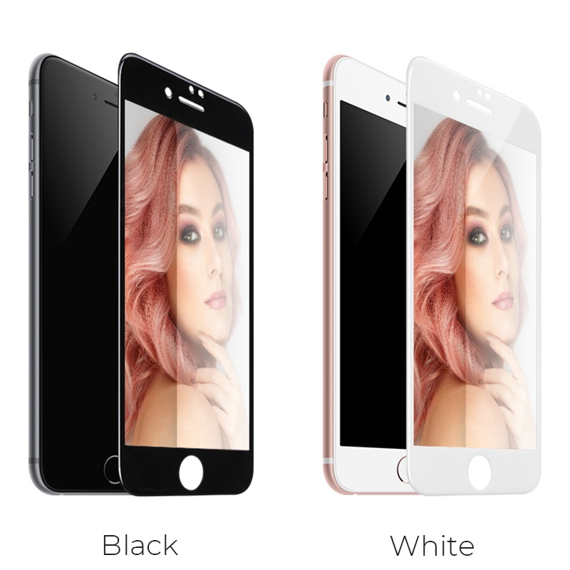 hoco mirror full screen tempered glass for iphone 7 8 plus a15 colors