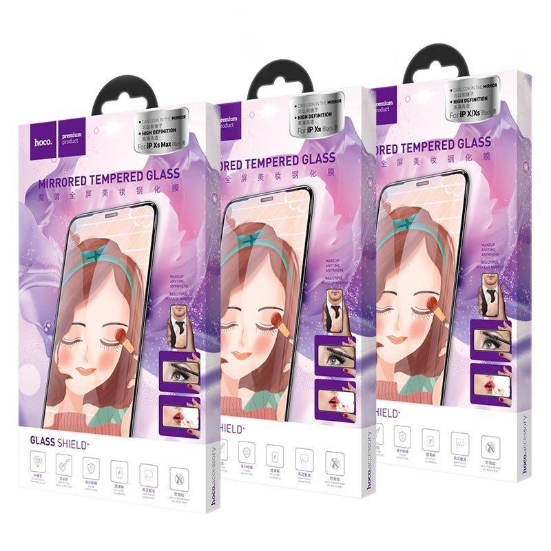 hoco mirror полноэкранное закаленное стекло для iphone x xr xs max a15 коробка