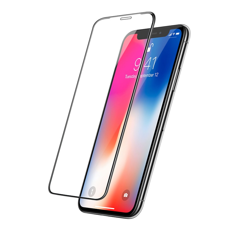 hoco mirror full screen tempered glass for iphone x xr xs max a15 perfect