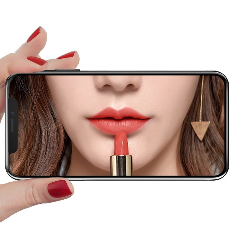 hoco mirror полноэкранное закаленное стекло для iphone x xr xs max a15 отражение