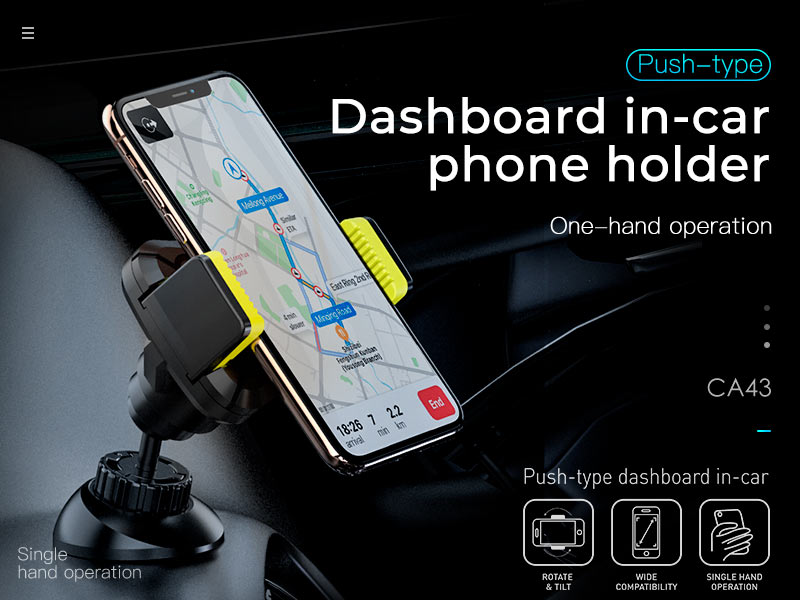 hoco news ca43 travel spirit push type dashboard in car holder banner en1