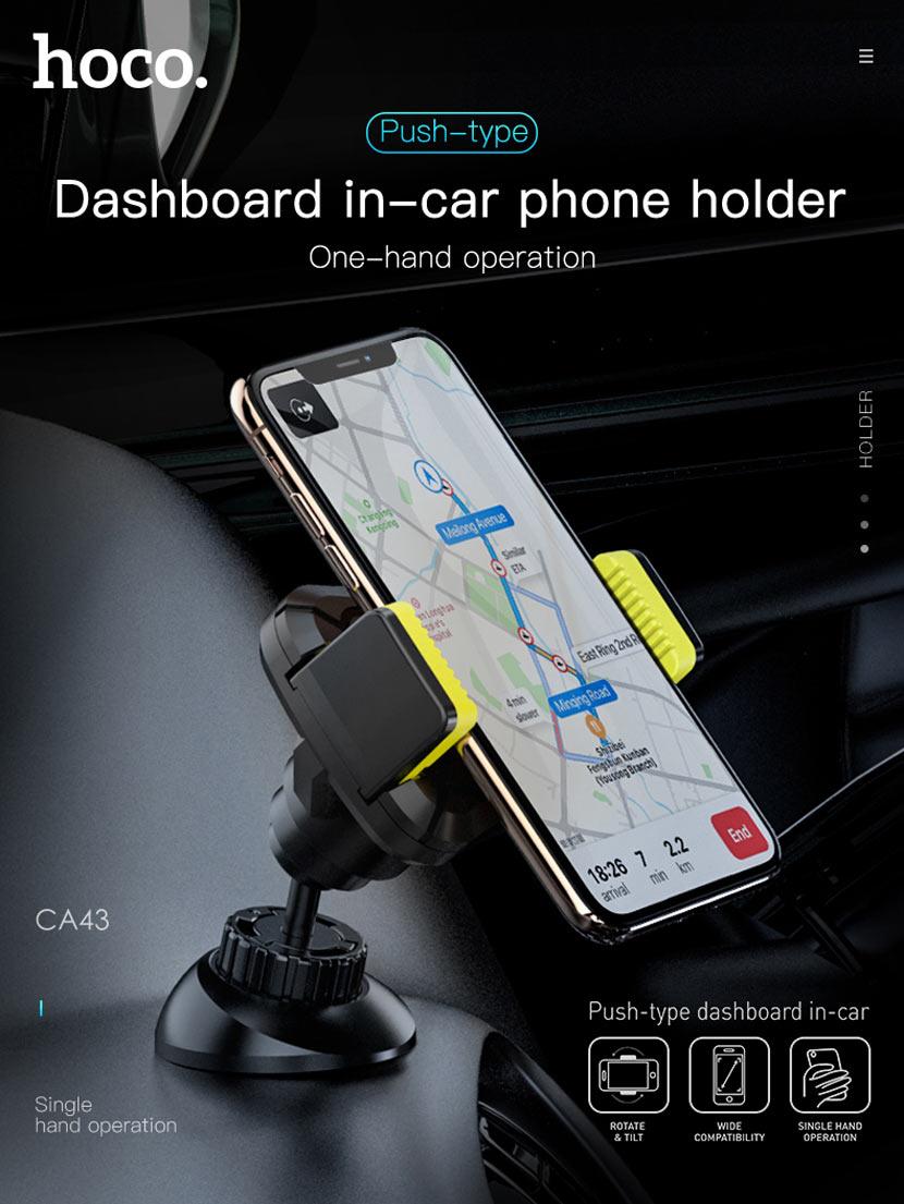 hoco news ca43 travel spirit push type dashboard in car holder main en