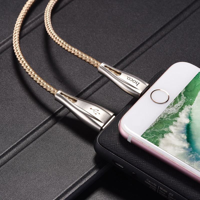 hoco u56 metal armor charging data cable for lightning charger
