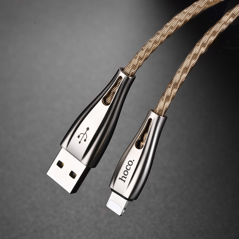 hoco u56 metal armor charging data cable for lightning durable