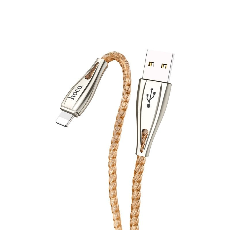 hoco u56 metal armor зарядный дата кабель для lightning штекер