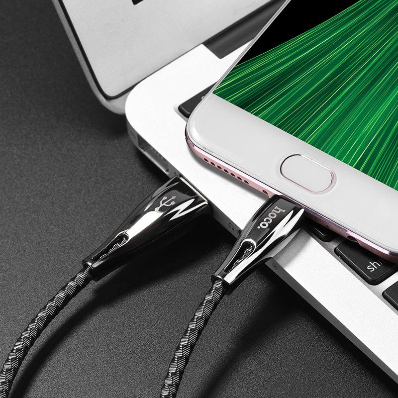 hoco u56 metal armor charging data cable for micro usb charger