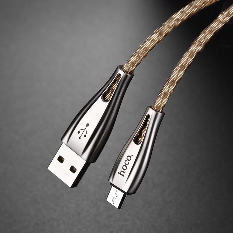 hoco u56 metal armor charging data cable for micro usb durable