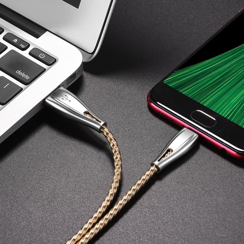 hoco u56 metal armor charging data cable for micro usb phone