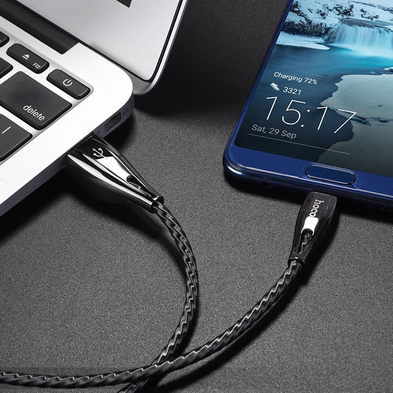 hoco u56 metal armor charging data cable for type c charger
