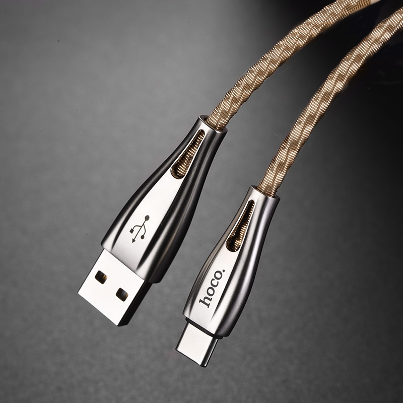 hoco u56 metal armor charging data cable for type c connectors