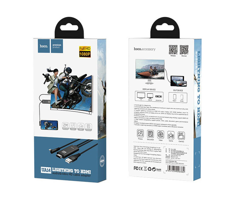 hoco ua14 lightning to hdmi cable package