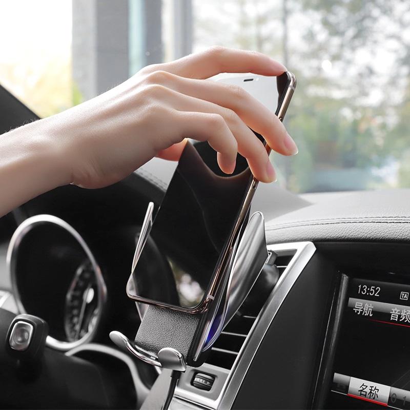 hoco ca34 elegant automatic induction wireless charging car holder dashboard
