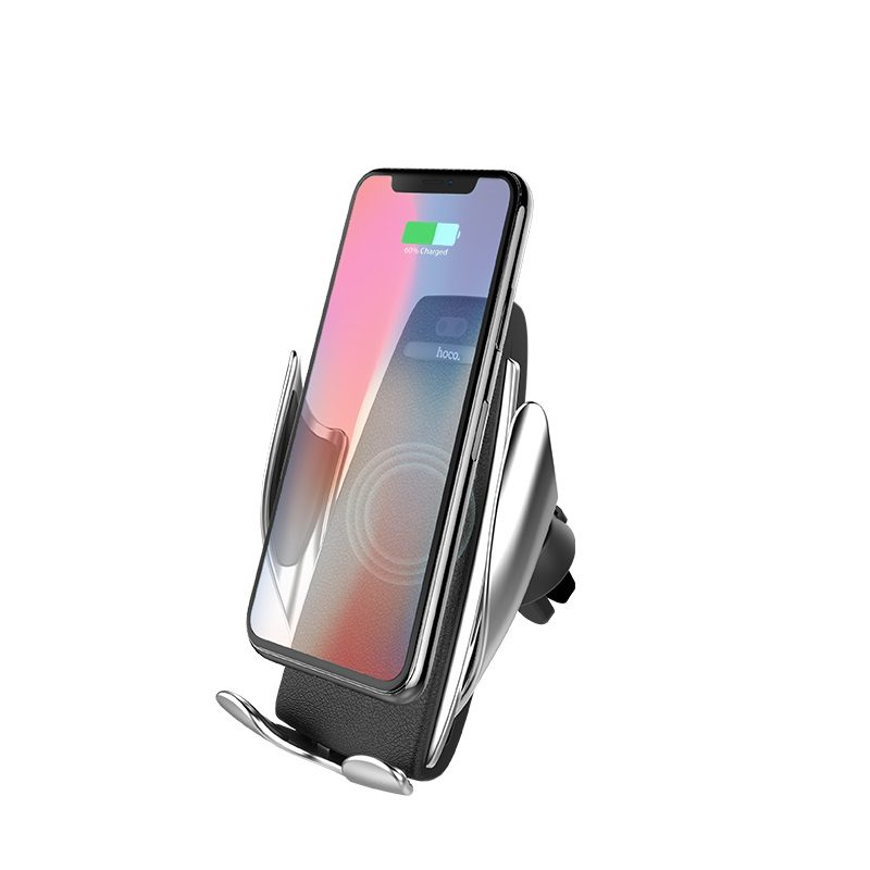 hoco ca34 elegant automatic induction wireless charging car holder front