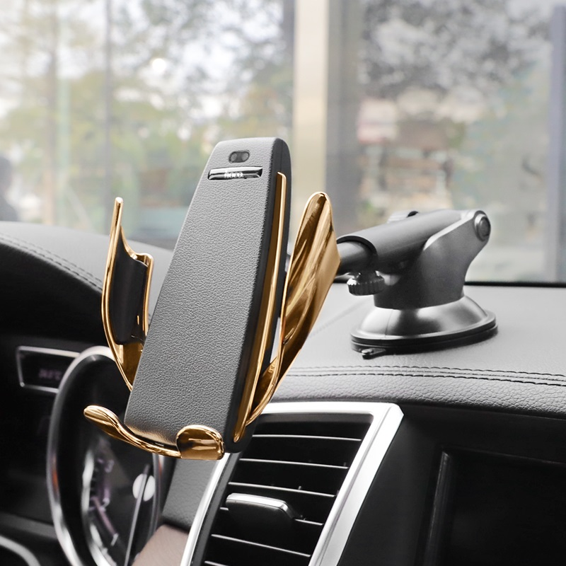 hoco ca34 elegant automatic induction wireless charging car holder mount