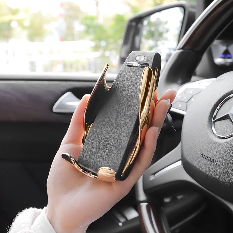 hoco ca34 elegant automatic induction wireless charging car holder overview