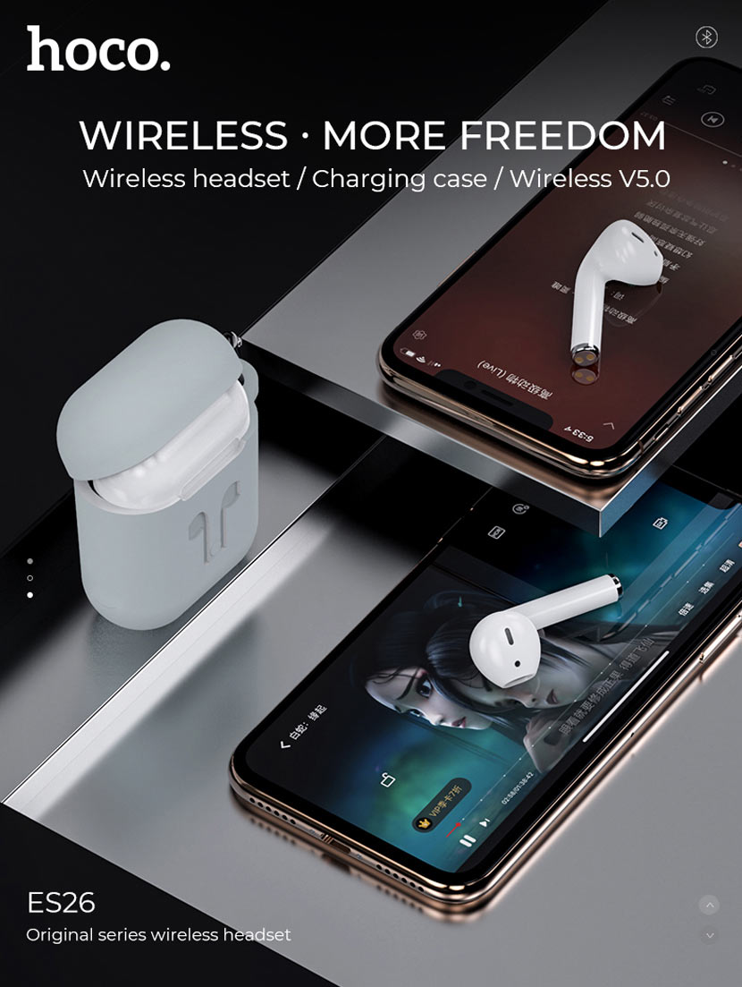 hoco es26 original series wireless headset news phones en