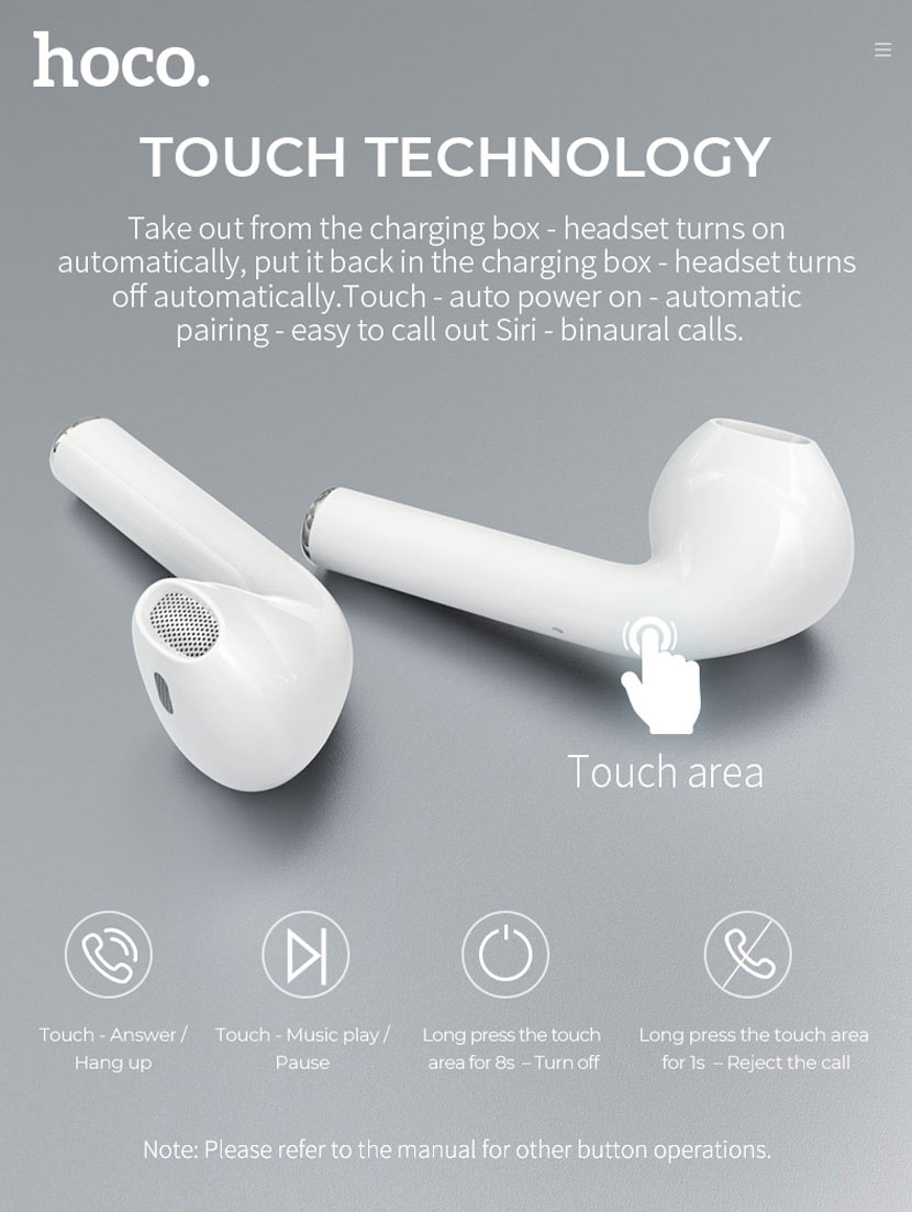 hoco es26 original series wireless headset news touch en