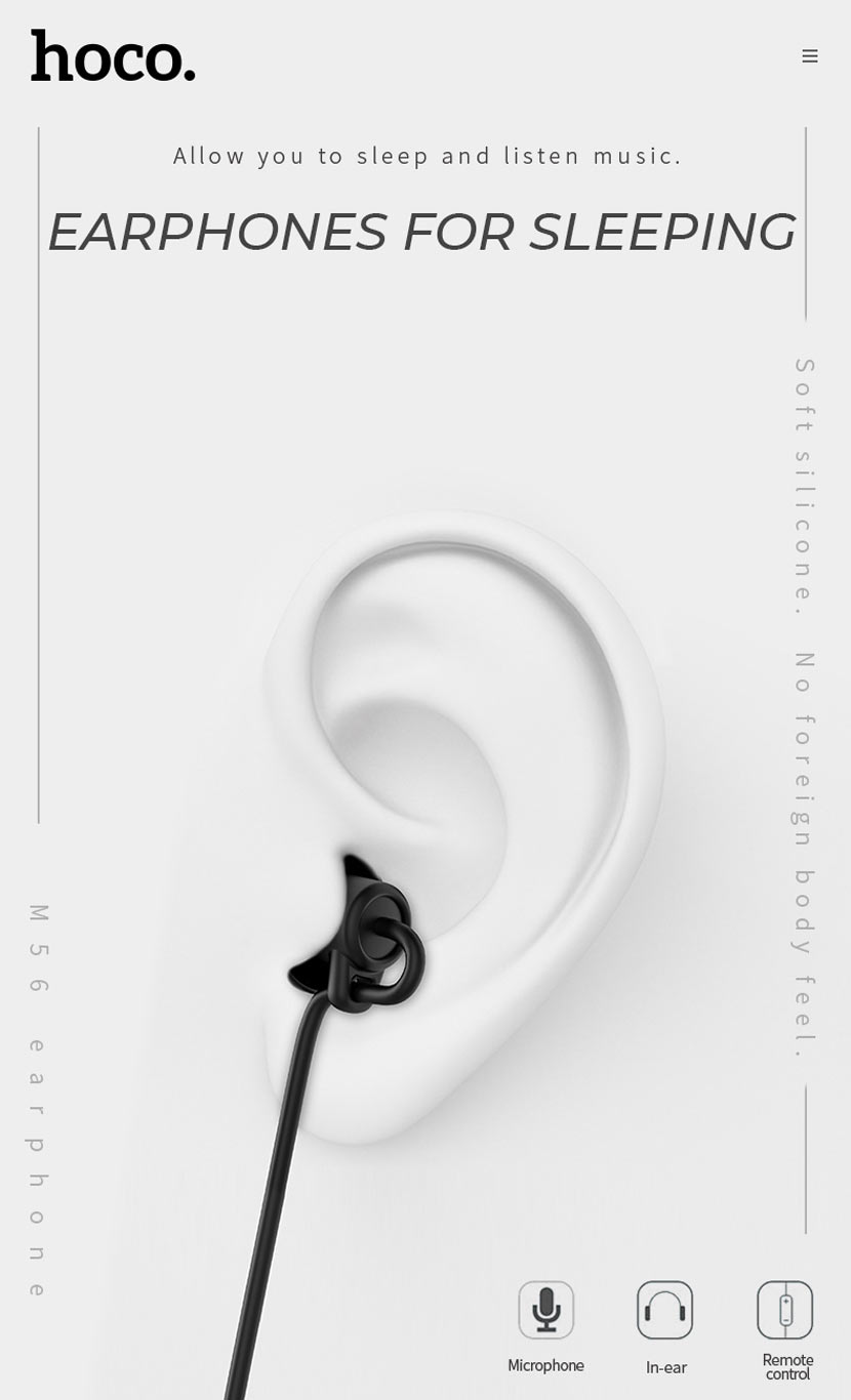 hoco m56 audio dream universal earphones news ear en