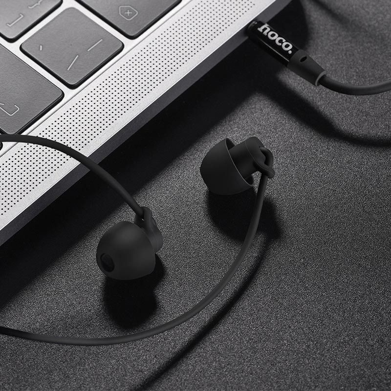 hoco m56 audio dream universal earphones with mic notebook black