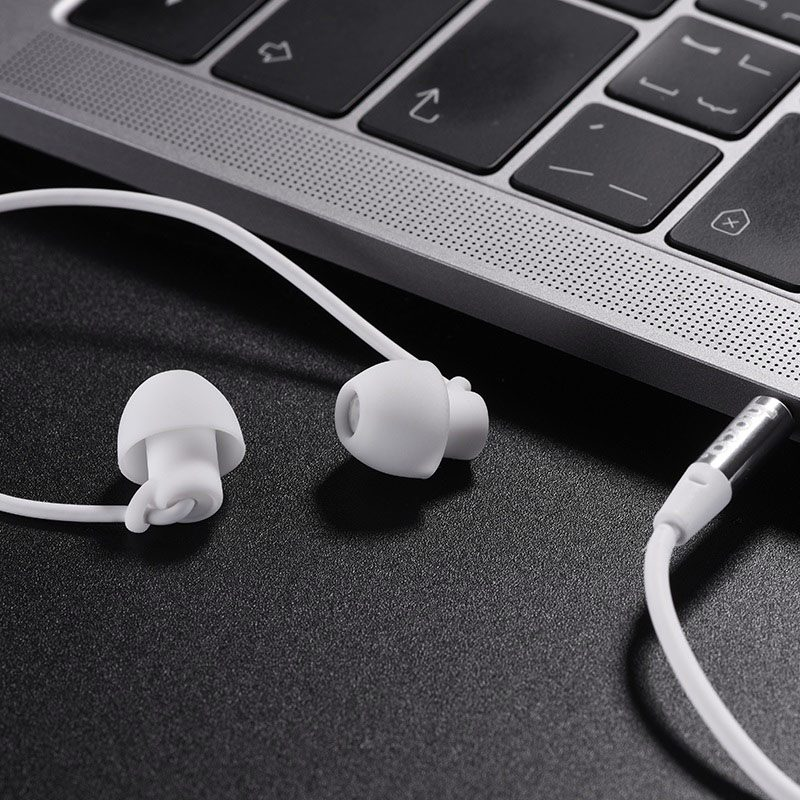 hoco m56 audio dream universal earphones with mic notebook white