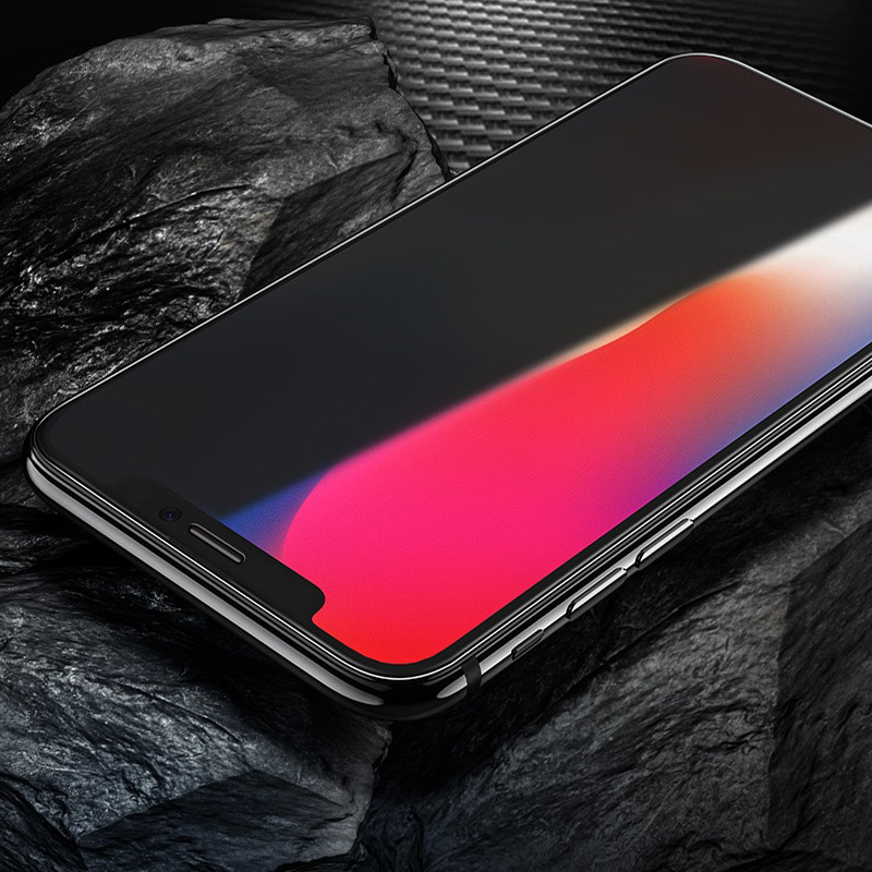 hoco shatterproof edges full screen anti spy tempered glass for iphone x xr xs max a13 frames