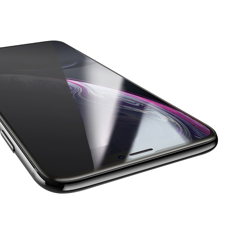 hoco shatterproof edges full screen anti spy tempered glass for iphone x xr xs max a13 thin