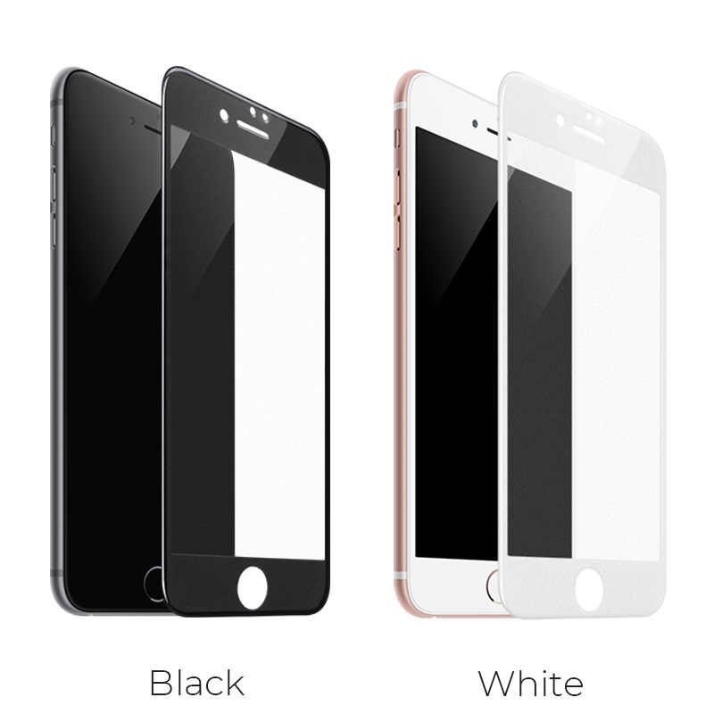 hoco super smooth full screen frosted tempered glass for iphone 7 8 plus a14 colors