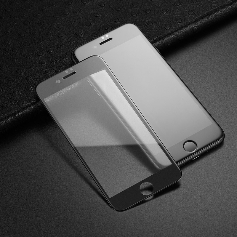 hoco super smooth full screen frosted tempered glass for iphone 7 8 plus a14 frames