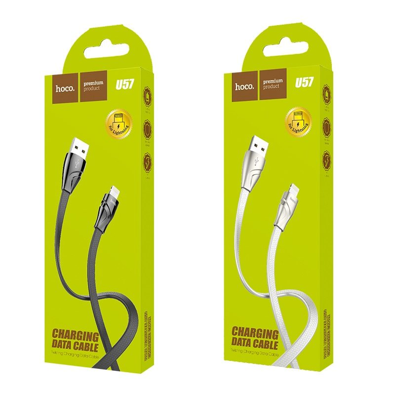 hoco u57 lightning twisting charging data cable package