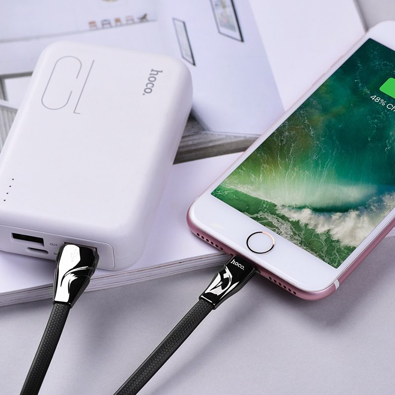 hoco u57 lightning twisting charging data cable phone