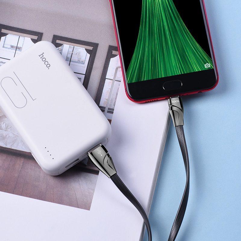 hoco u57 micro usb twisting кабель для зарядки и передачи данных зарядка
