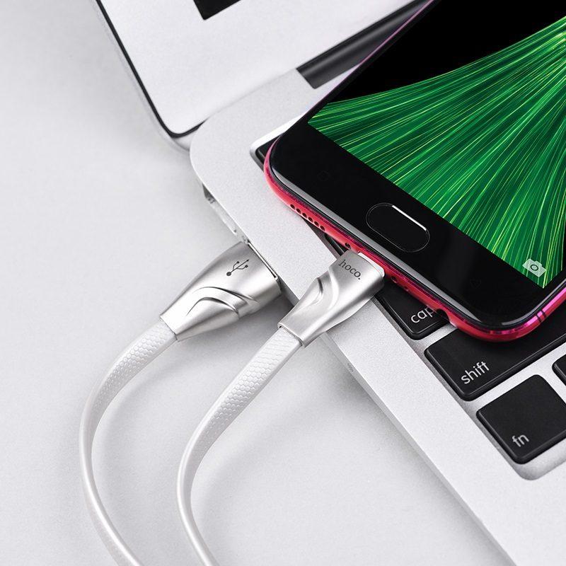 hoco u57 micro usb twisting кабель для зарядки и передачи данных телефон