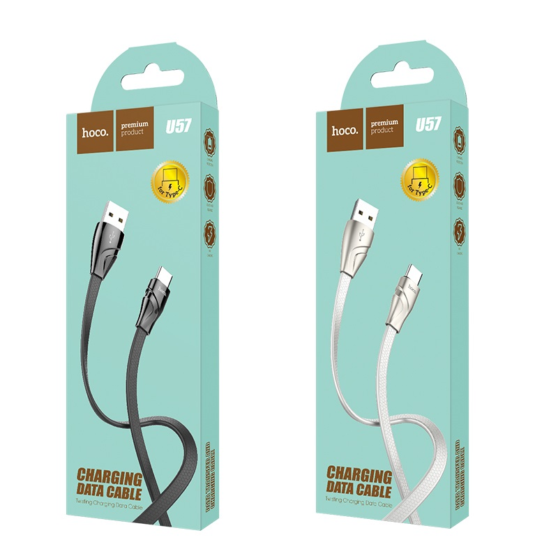 hoco u57 type c twisting charging data cable package