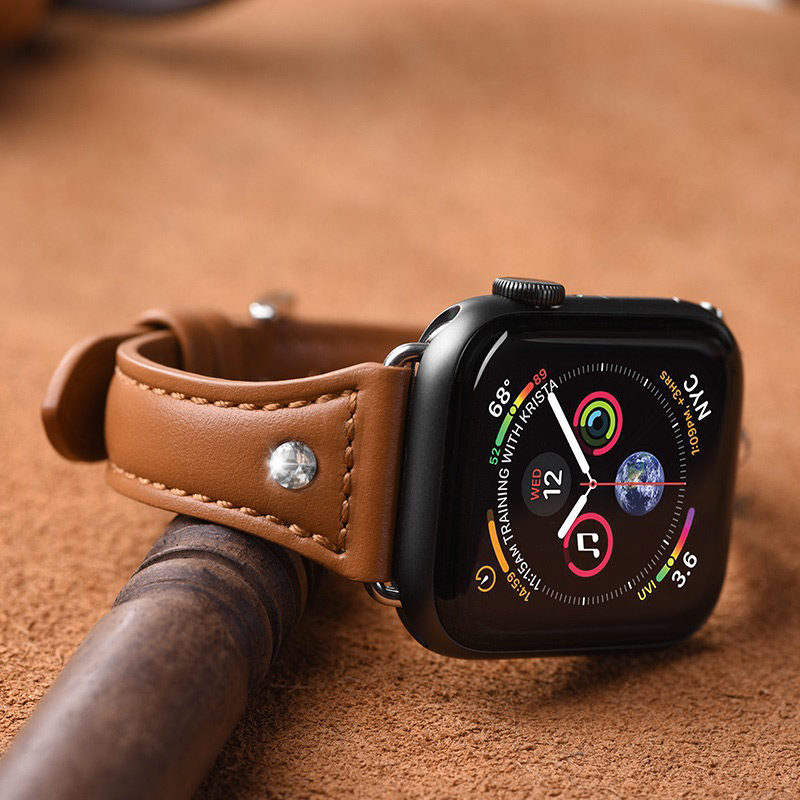 hoco wb05 ocean wave leather strap for apple watch soft