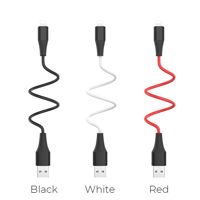 hoco x32 excellent charging data cable for lightning colors