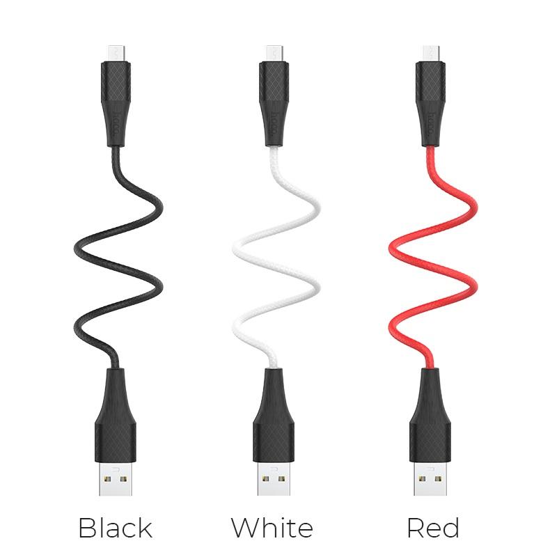 hoco x32 excellent charging data cable for micro usb colors