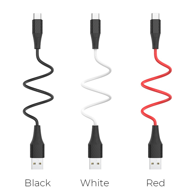 hoco x32 excellent charging data cable for type c colors