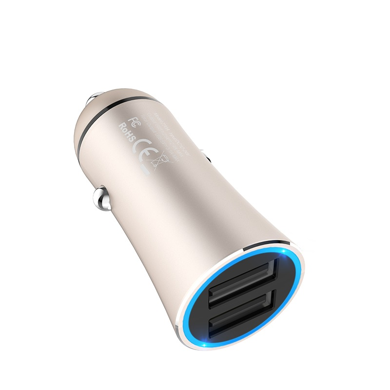 hoco z30a easy route dual port car charger safe