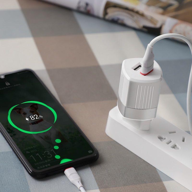 hoco c55a energy dual port charger eu phone