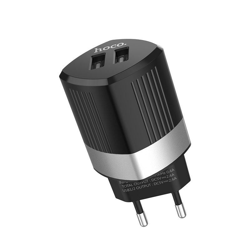 hoco c55a energy dual port charger eu ports
