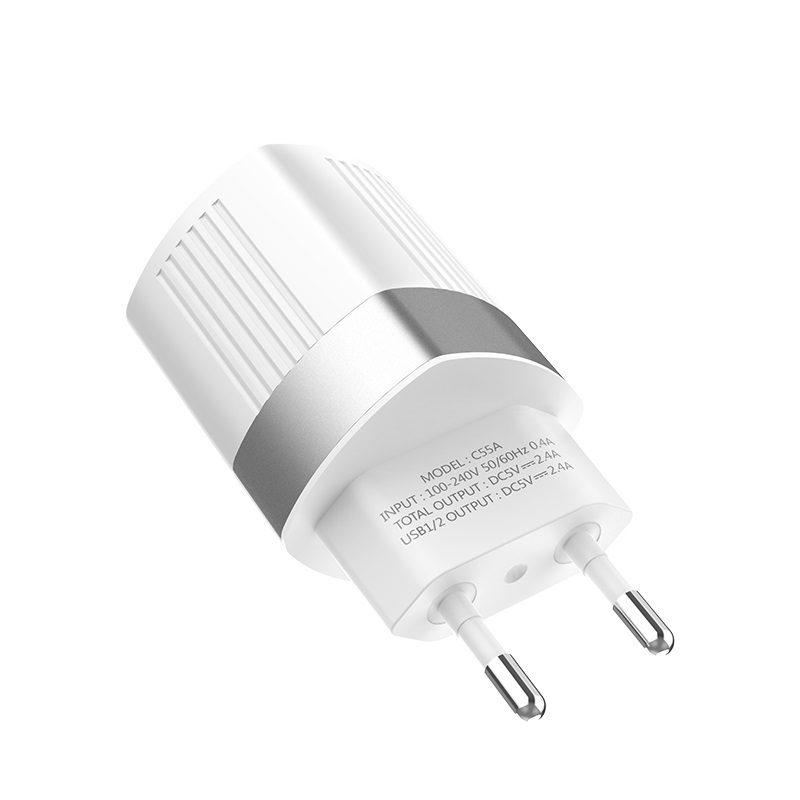 hoco c55a energy dual port charger eu specs