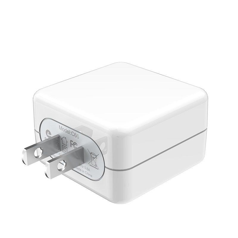 hoco c66 surpass зарядный адаптер для быстрой зарядки us usb штекер