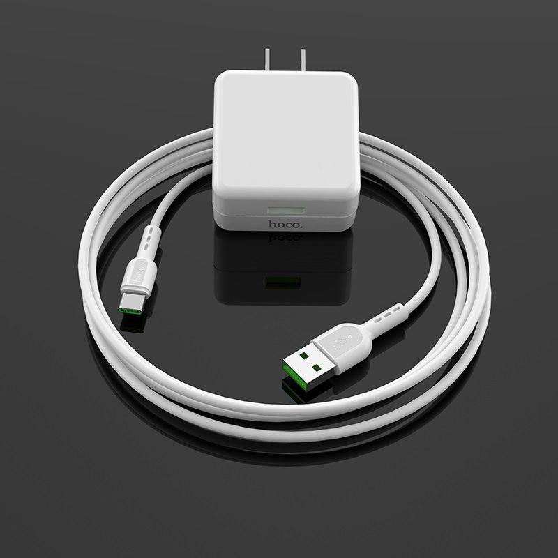 hoco c66 surpass зарядный адаптер us набор с кабелем type c обзор