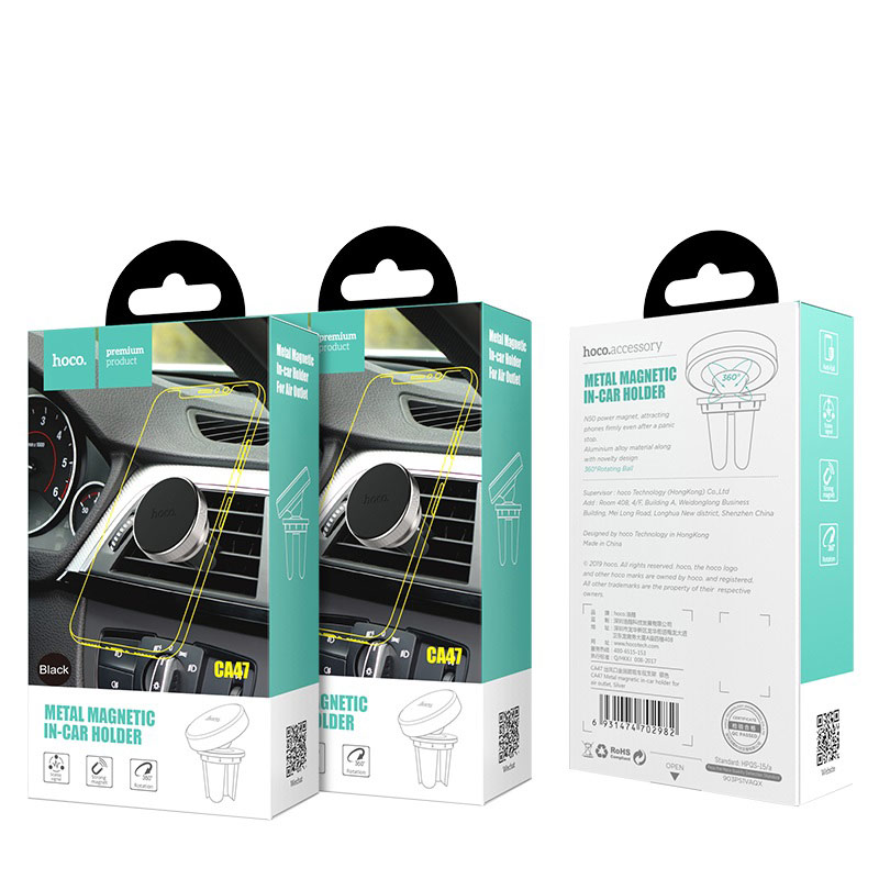 hoco ca47 metal magnetic in car holder for air outlet package