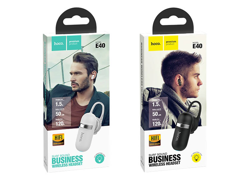 hoco e40 surf sound business wireless headset package