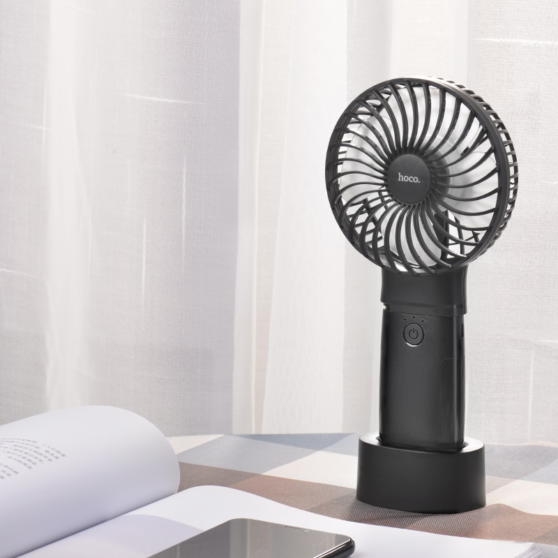 hoco f11 handheld charging fan with built in power bank vertical