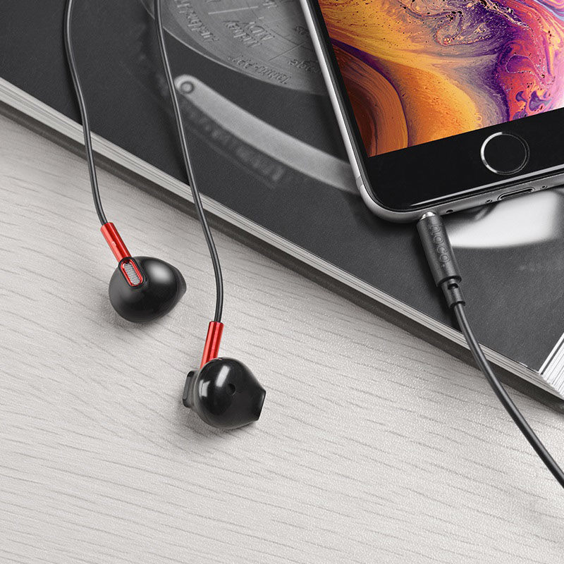 hoco m57 sky sound universal wired earphones with mic headset