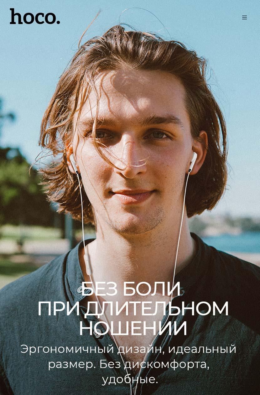 hoco m58 amazing universal earphones with mic overview ru