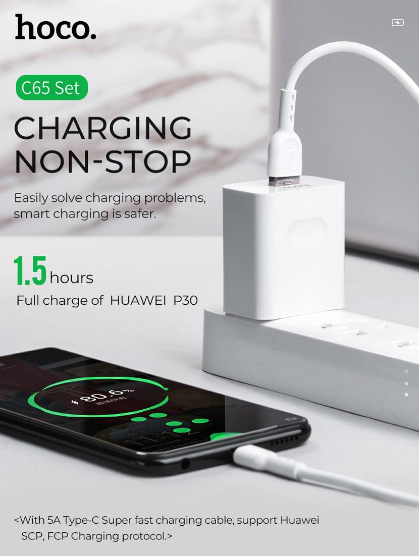 hoco news c65 warwick super fast charger us adapter en